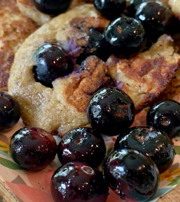 Blueberry Almond Banana Pancake Treats