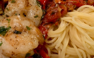 Garlic Shrimp And Pasta With Fresh Herbs