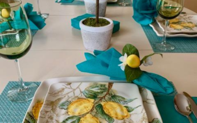A Casual Tablescape For Four Using Lemons