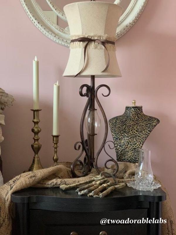 Antique brass candle sticks