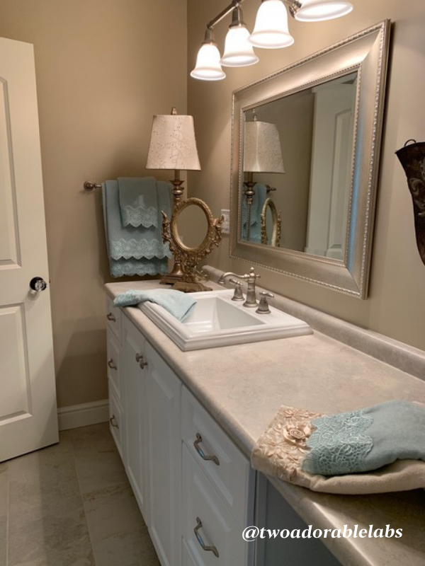 Jack and Jill bathroom completed