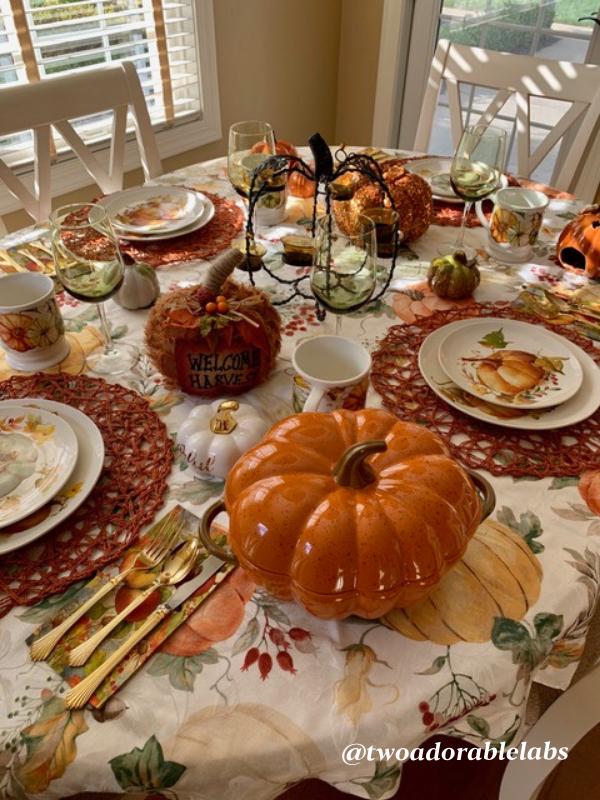 Pumpkin Spice Latte table setting