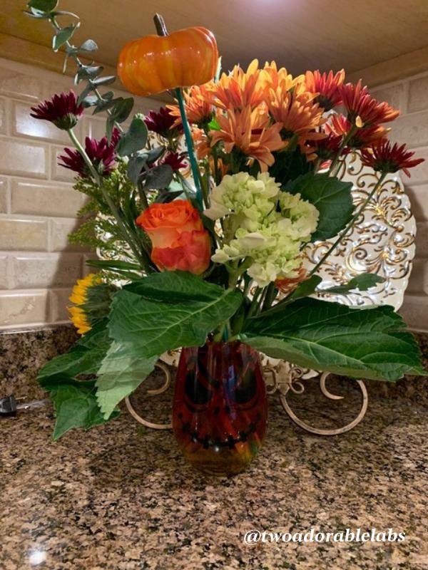 Spooky floral arrangement