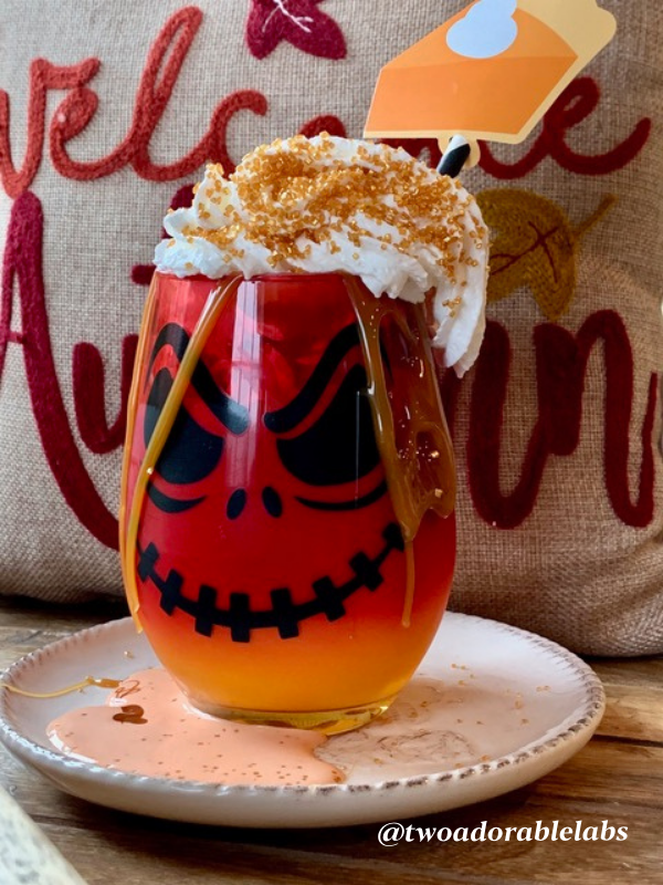 Spooky glass milkshake