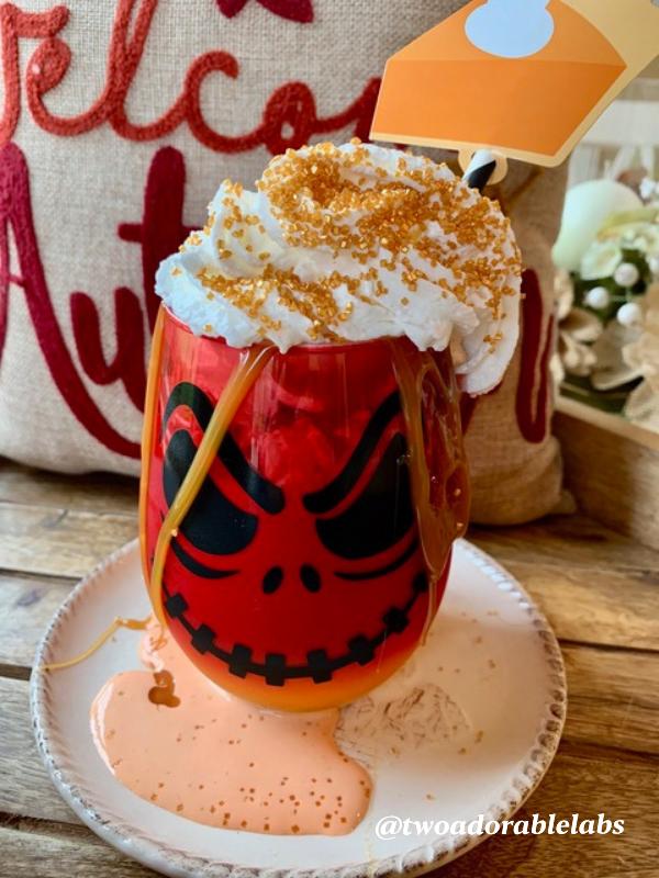 Milkshake in spooky glass