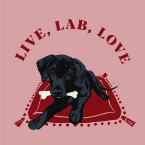 Live, Lab, Love Postcard
