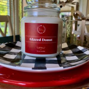Glazed Donut Candle | www.twoadorablelabs.com