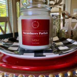 Strawberry Parfait Candle   www.twoadorablelabs.com