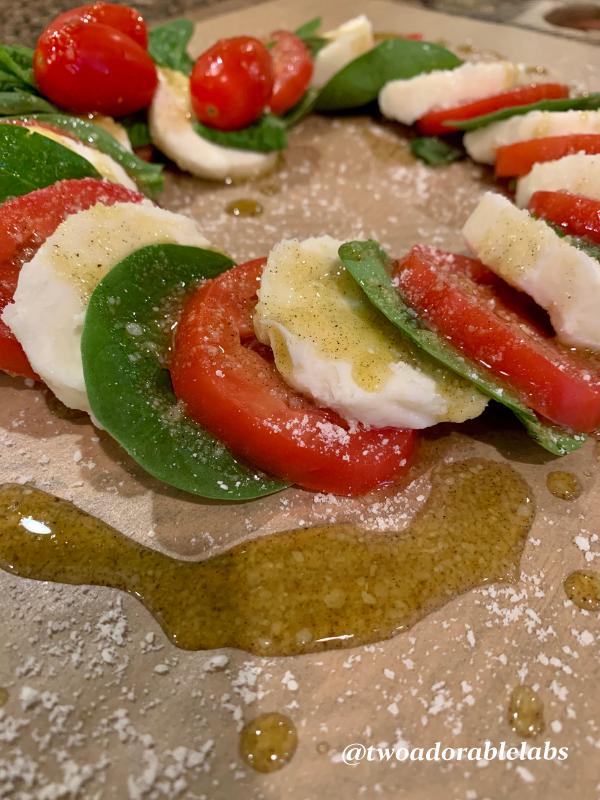 Caprese Salad w Parmesan Dressing