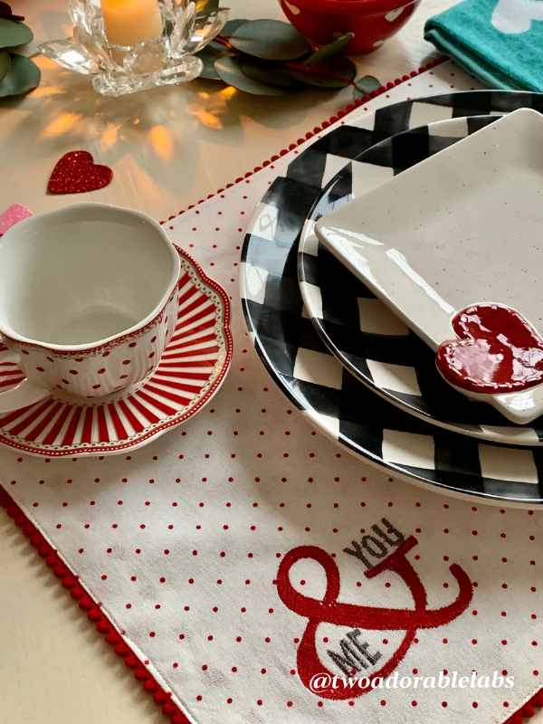 Whimsical Valentine's Day Table | www.twoadorablelabs.com
