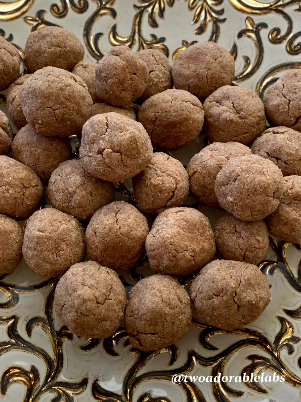 Puppy Peanut Butter Meatballs | www.twoadorablelabs.com