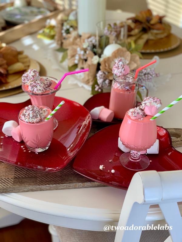 Valentine's Day Milkshake | www.twoadorablelabs.com