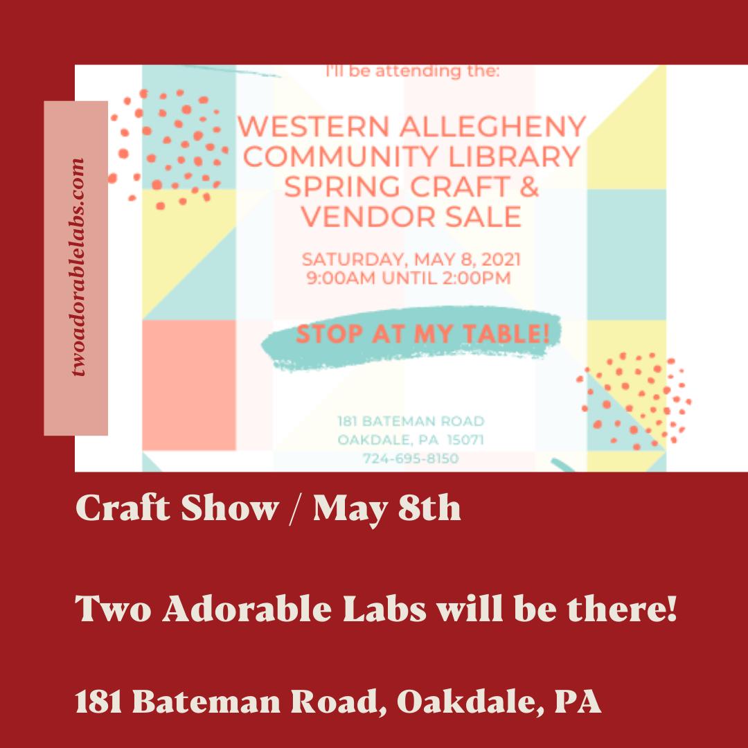 Spring Craft Show | www.twoadorablelabs.com