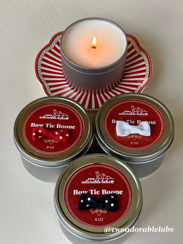 Bow Tie Boone Odor Eliminator 8 oz tin candle