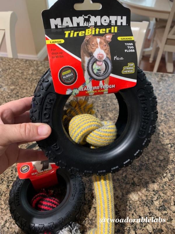Mammoth Tire Biter   www.twoadorablelabs.com