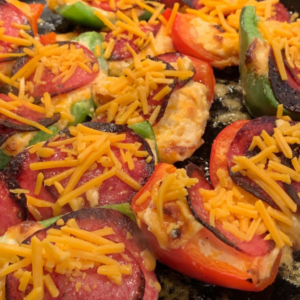 Pepper Salami Cheese Bites   www.twoadorablelabs.com